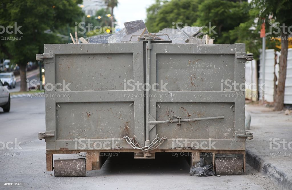 Roll-off Container stock photo