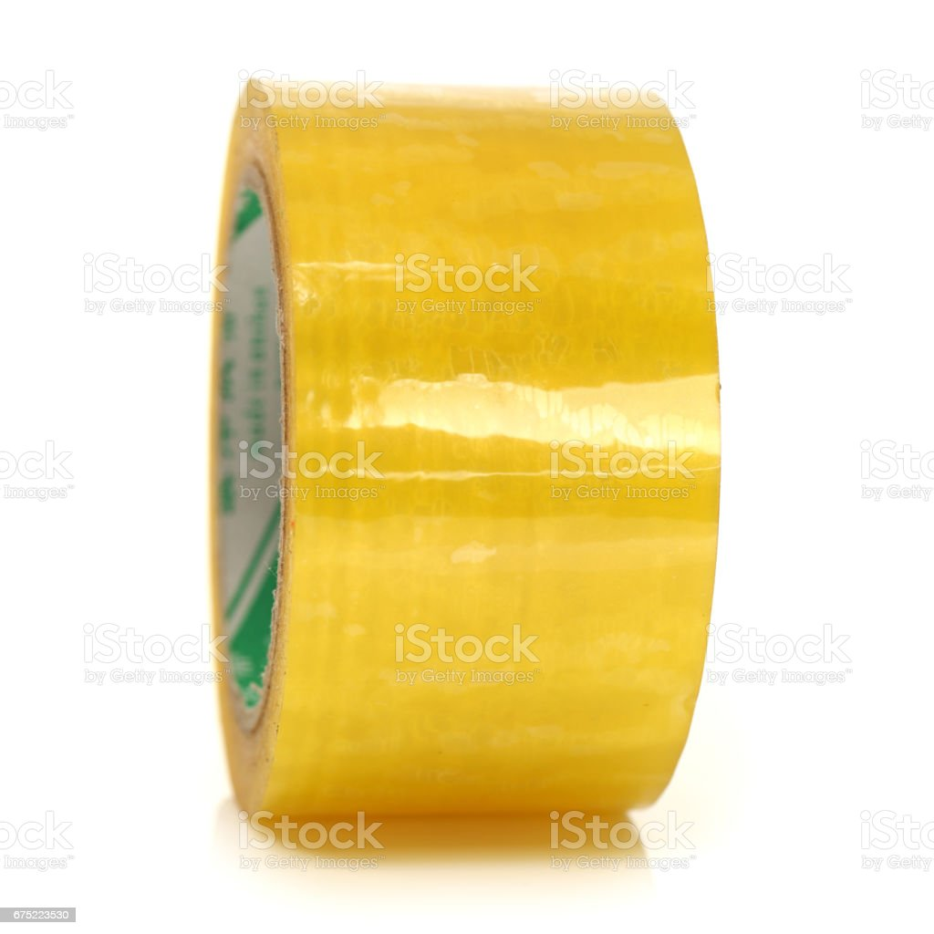 rolls of adhesive tape  Isolated on White Background royalty-free stock photo