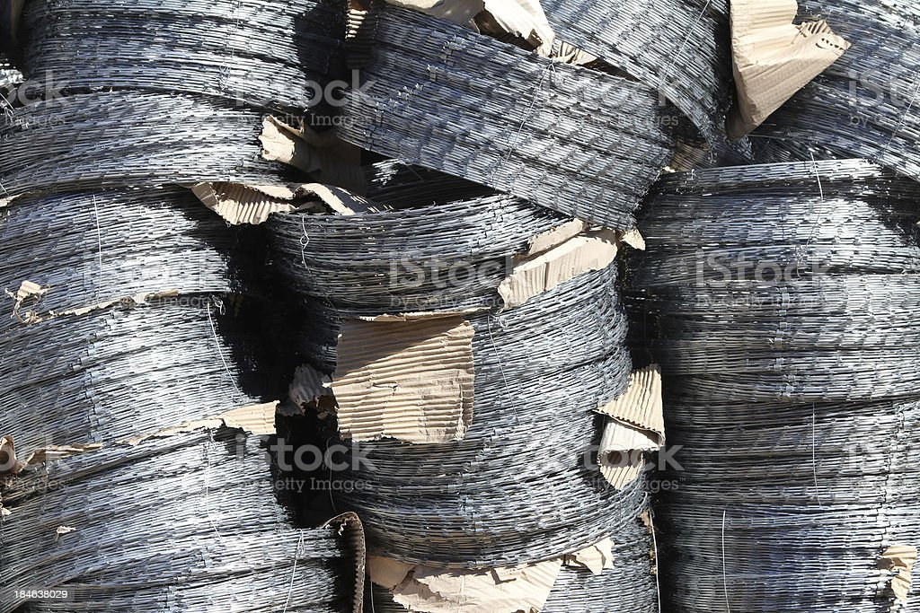Rolls of barbed wires royalty-free stock photo