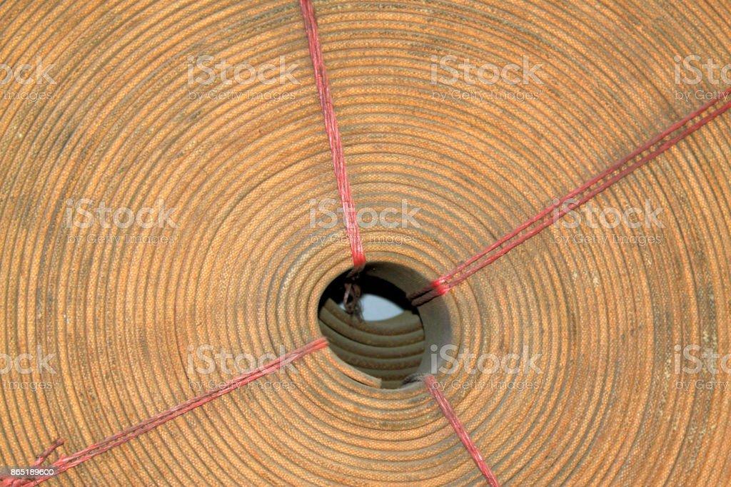 rolls of belt, closeup of photo stock photo