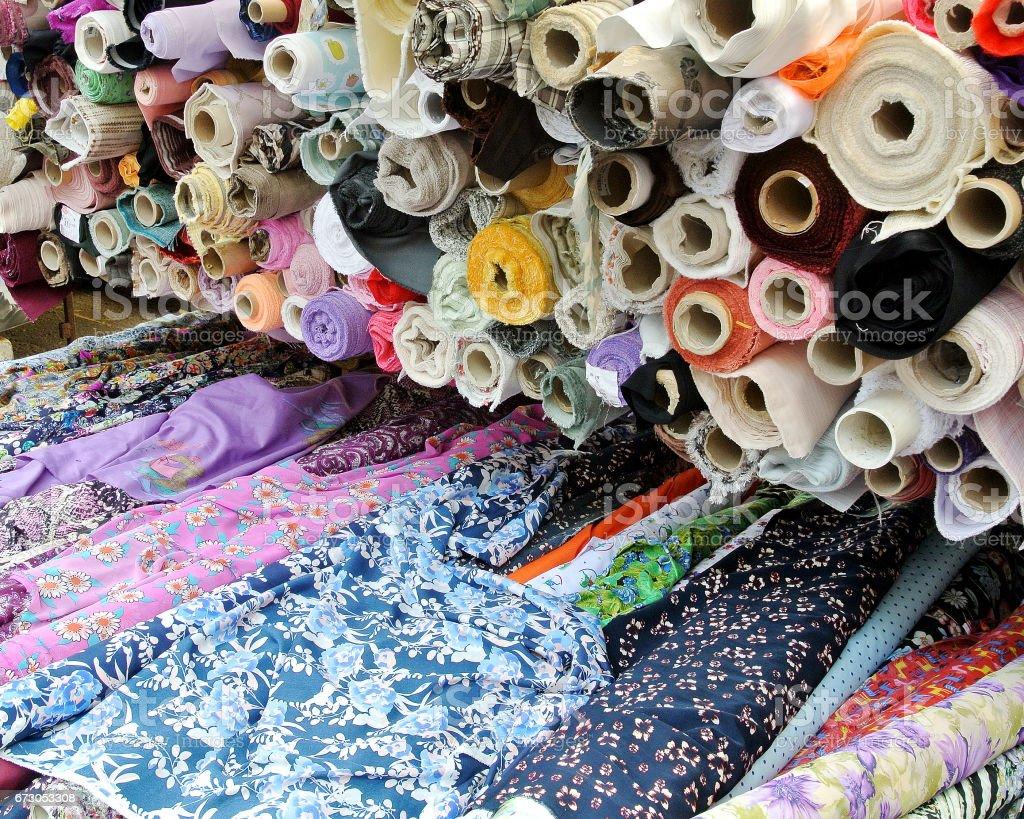rolls of cloth stock photo