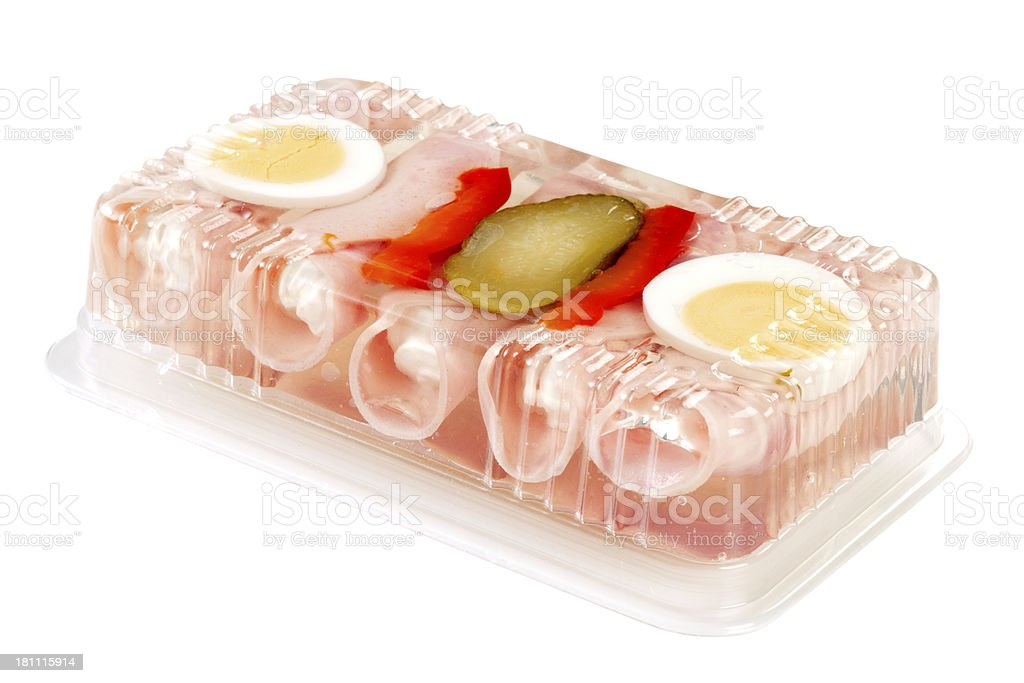 Rolls of ham in aspic royalty-free stock photo