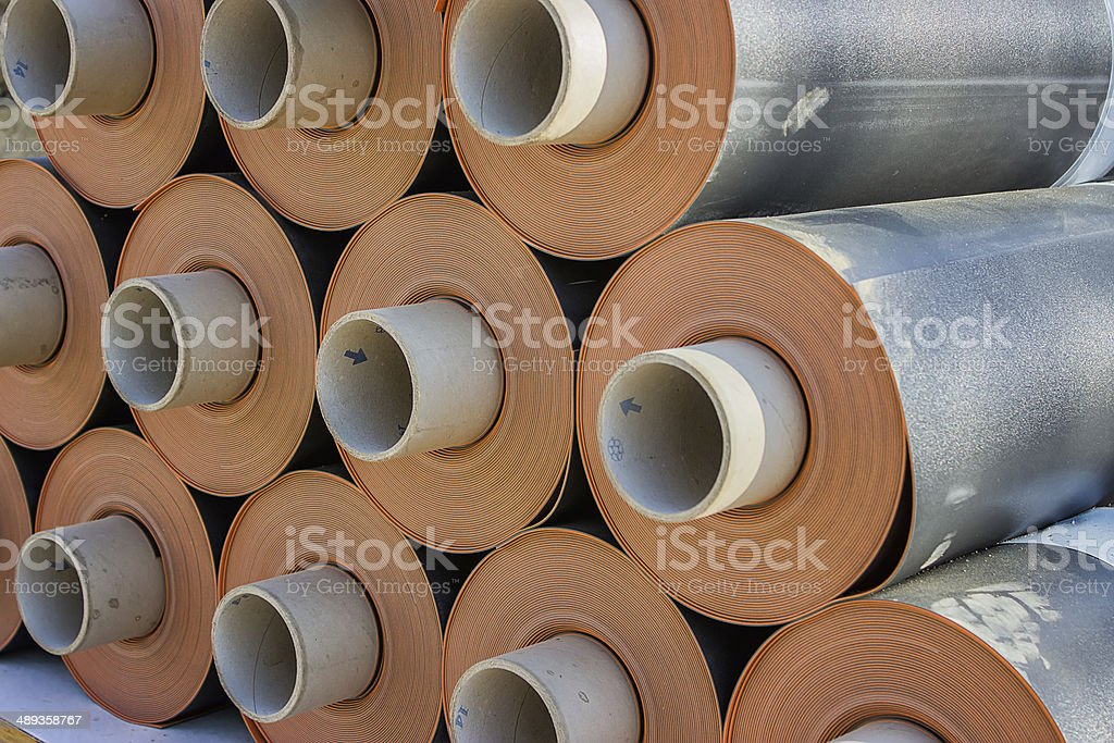 Rolls of insulation material 2 stock photo