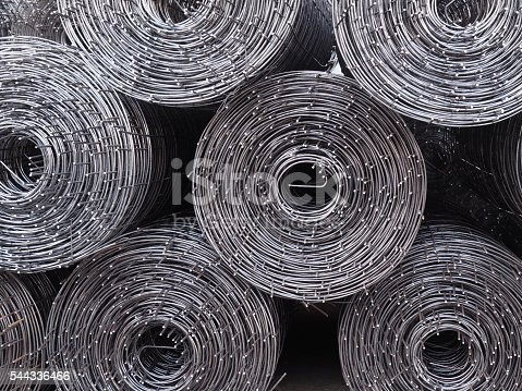 istock Rolls of iron mesh. 544336466