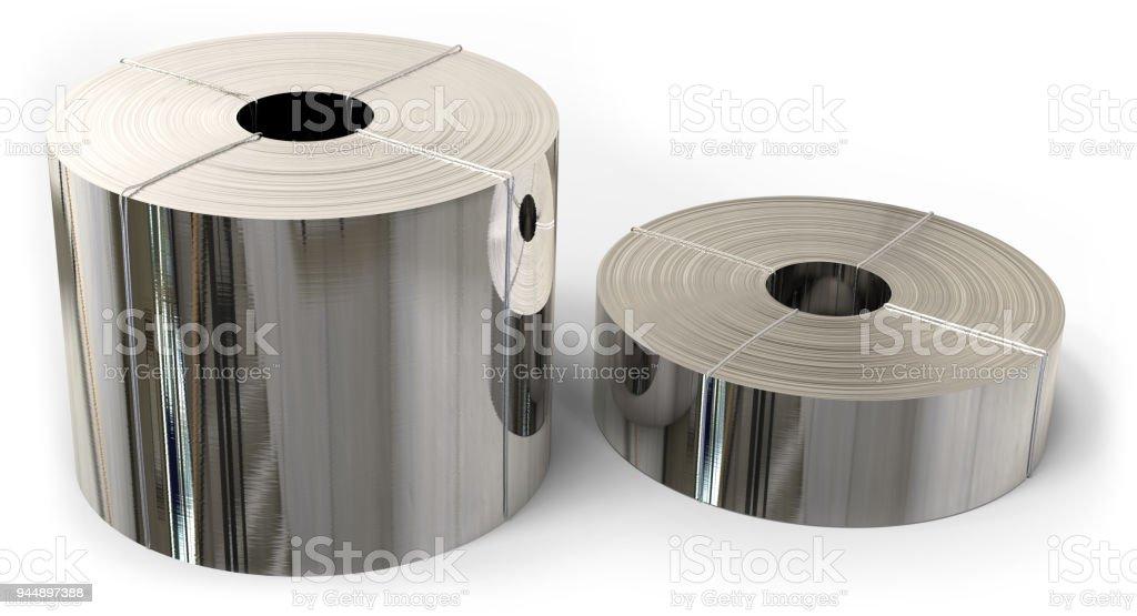 Rolls von Metall-Folie – Foto