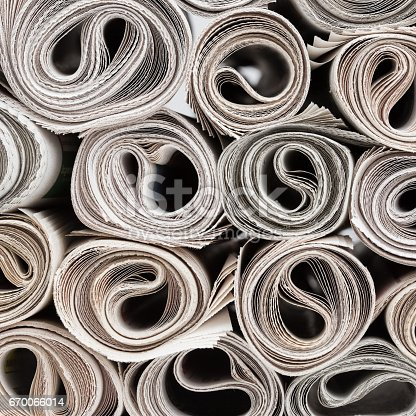 istock Rolls of newspapers 670066014