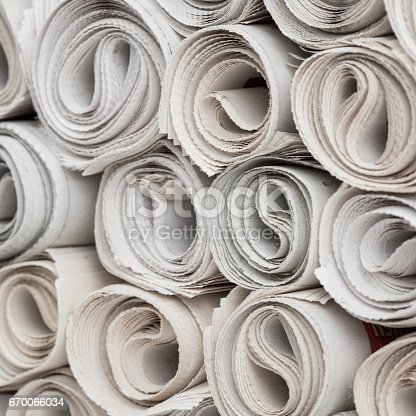 istock Rolls of newspapers 670066034