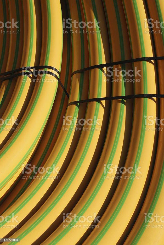 Rolls von Kunststoff-Röhre – Foto