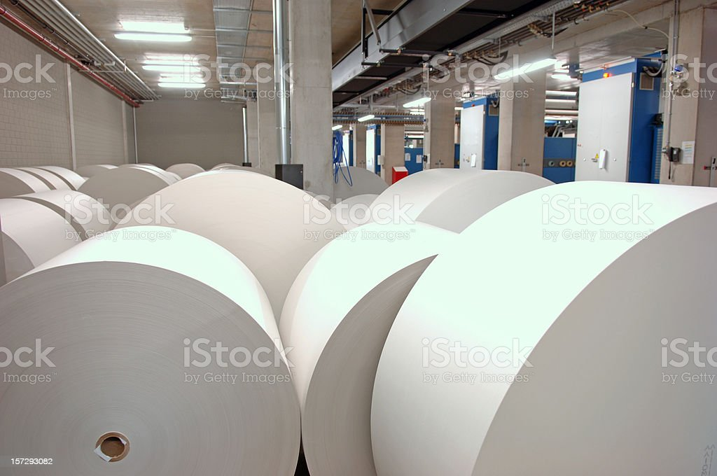 Rolls of printing paper stock photo