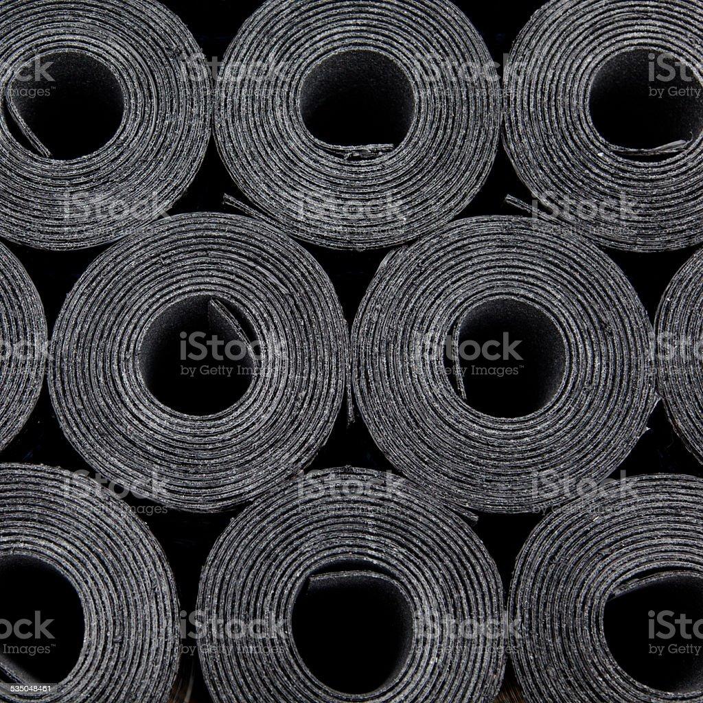 rolls of roof coating stock photo