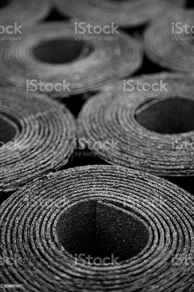 rolls of roofing felt stock photo