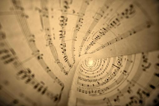 Rolls of sheet music