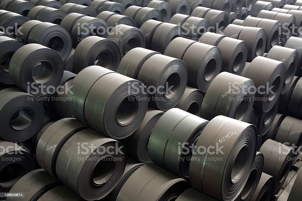 Rolls of steel plate royalty-free stock photo