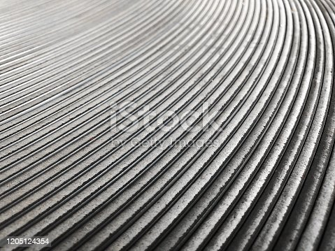 Rolled and bended stack of metal sheet  background