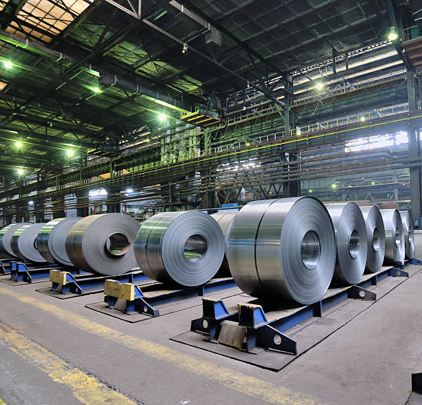 rolls of steel sheet stock photo