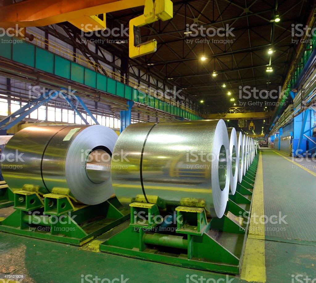rolls of steel sheet stock photo