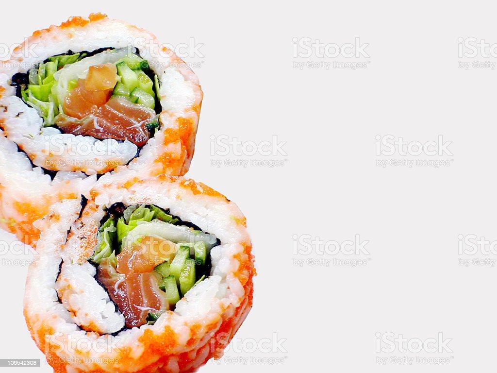 Rolls of Sushi royalty-free stock photo