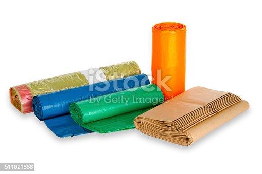 istock Rolls of trash bags 511021866