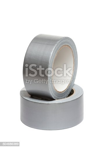 805500886 istock photo Rolls of white adhesive tape 504686389