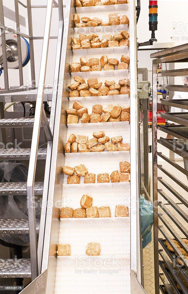 Rolls on Conveyor System stock photo