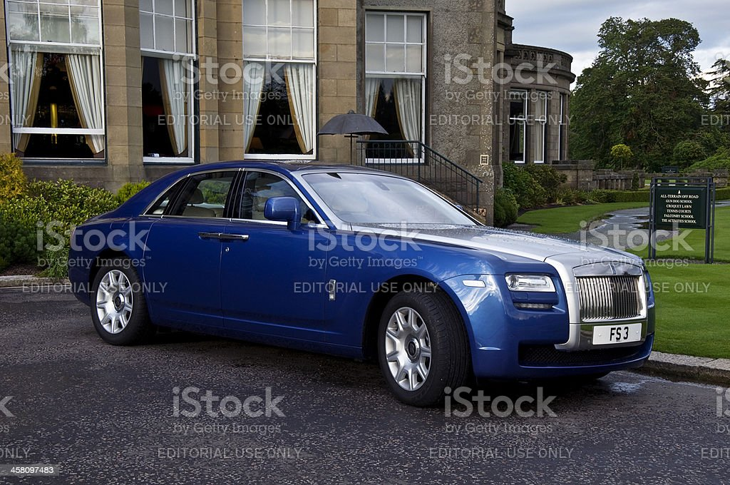 """Rolls Royce car parked at Gleneagles, Scotland """"Gleneagles, Scotland- July 10, 2011: Rolls Royce car parked at the luxury Gleneagles Hotel and Golf Course, Scotland."""" Backgrounds Stock Photo"""