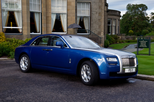 Rolls Royce Car Parked At Gleneagles Scotland Stock Photo - Download Image Now