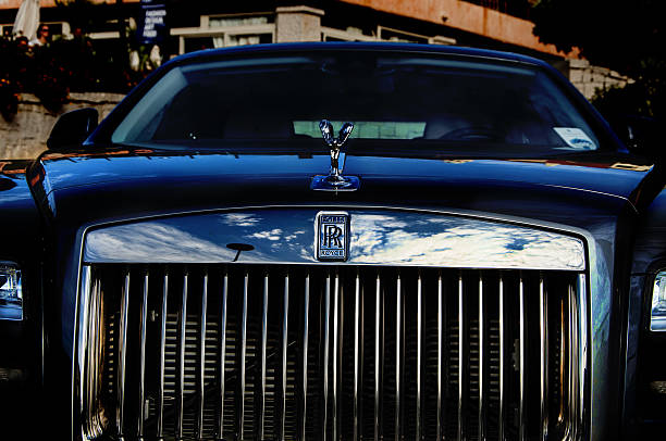 Rolls Royce Phantom Sardinia, Italy - August 16, 2014: italy , sardinia porto cervo Rolls Royce Phantom  royce lake stock pictures, royalty-free photos & images