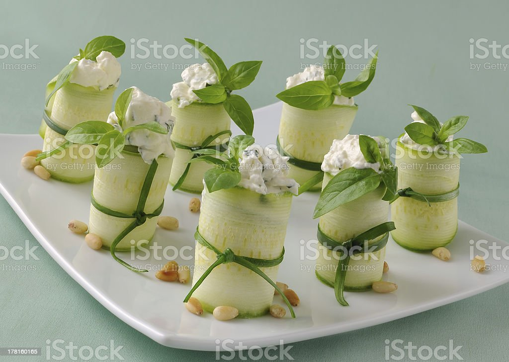 Rolls zucchini royalty-free stock photo