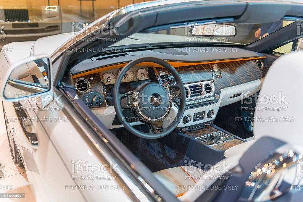 Rollsroyce Dawn Four Seater Luxury Convertible Interior Stock Photo