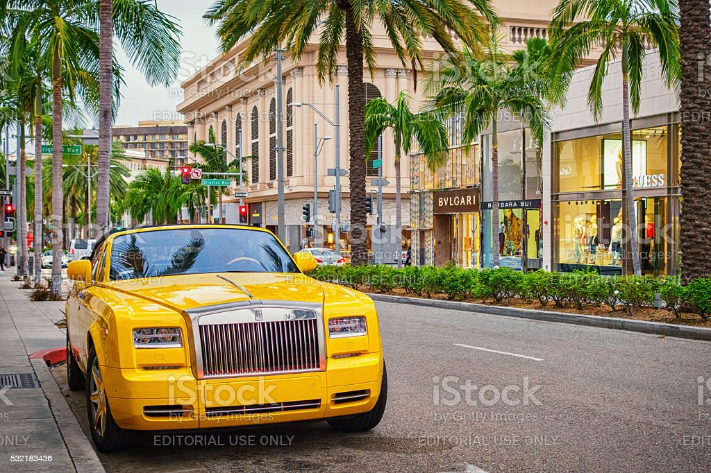 Rolls-Royce Phantom in Beverly Hills Los Angeles California USA stock photo