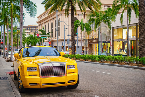 Rollsroyce Phantom In Beverly Hills Los Angeles California Usa Stock Photo  - Download Image Now - iStock