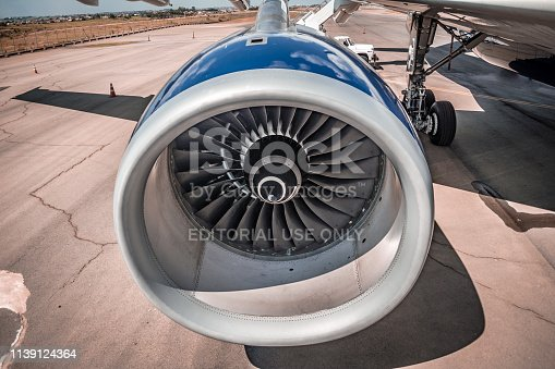 istock Rolls-Royce Trent 700 engine - engine number 1, left side - Airbus A330 - PR-AIY - Azul Linhas Aéreas - During the party ceremony - Azul 10 years 1139124364