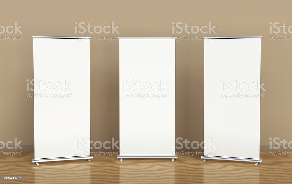 Roll-up banners stock photo