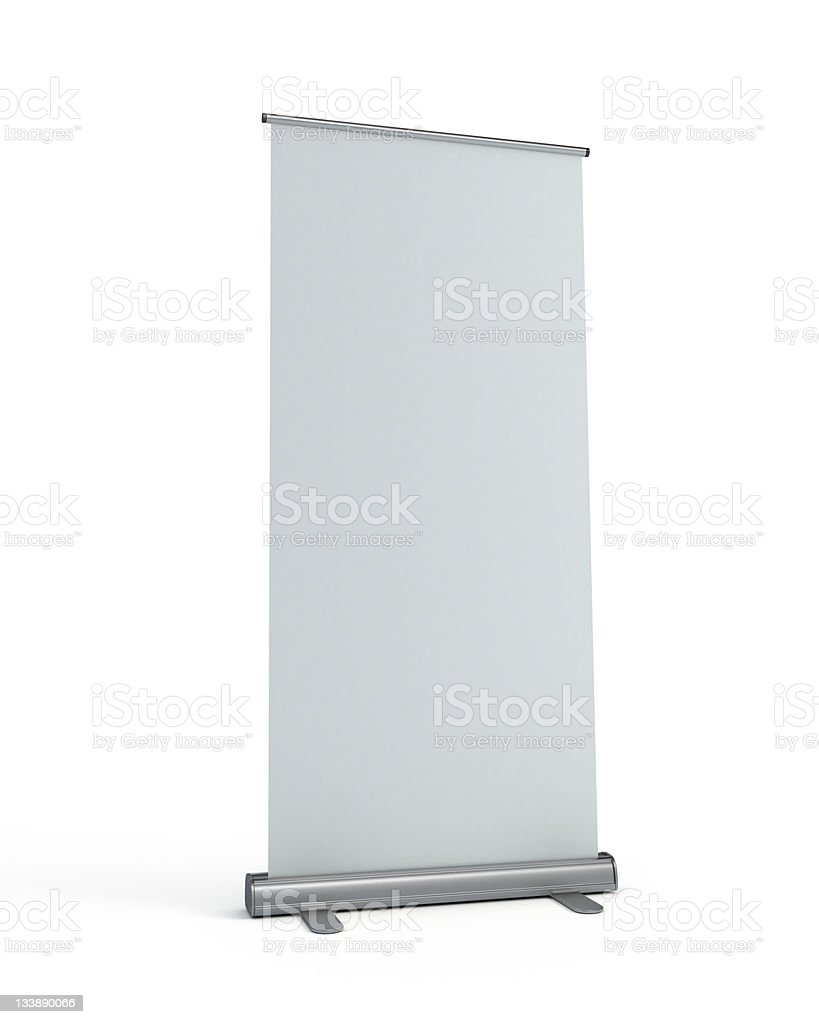 roll-up display banner royalty-free stock photo