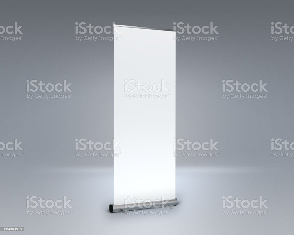 Rollup Mockup stock photo