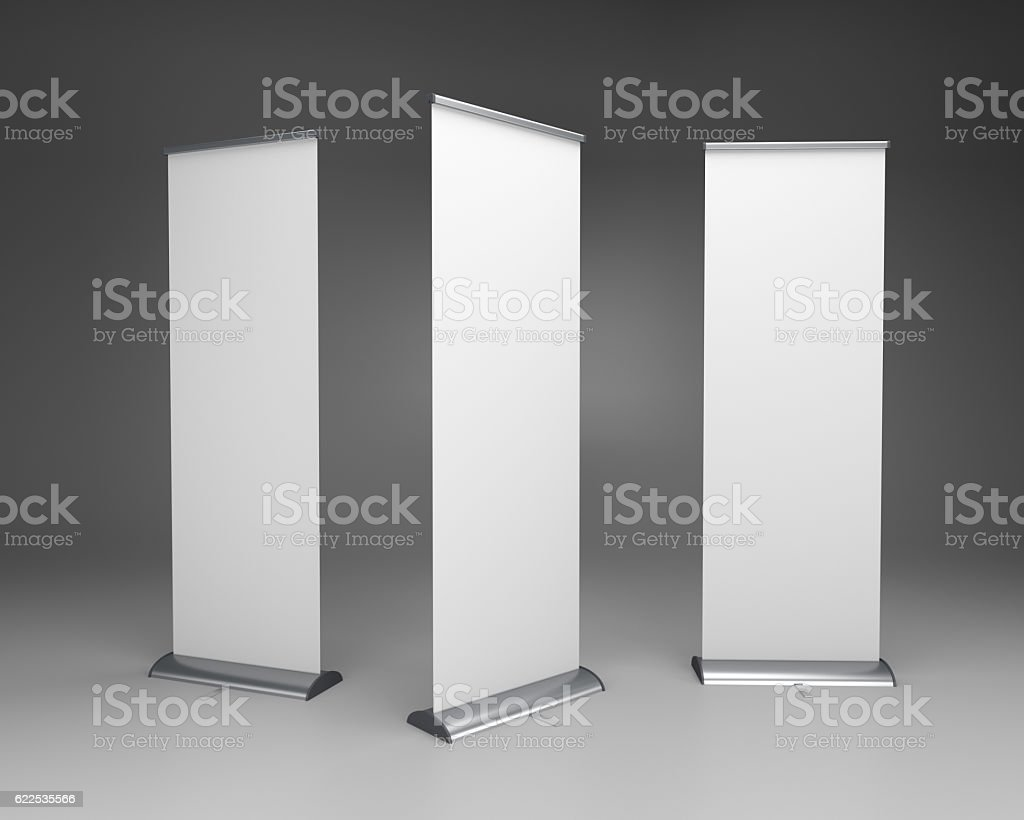 rollup or banners stock photo