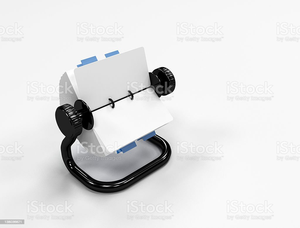 Rolodesk - Office supplies stock photo