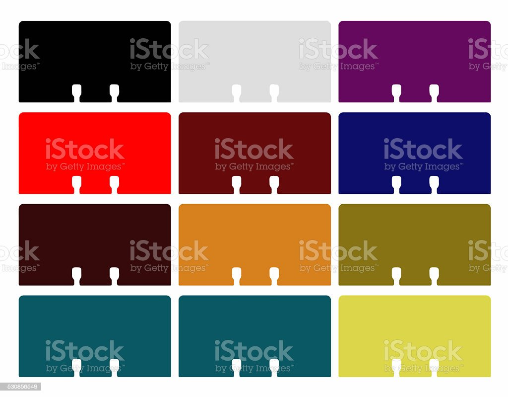 Rolodex cards - Dark colors stock photo