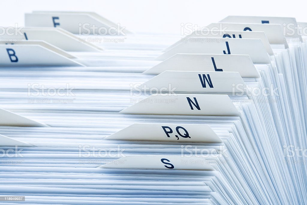 rolodex stock photo