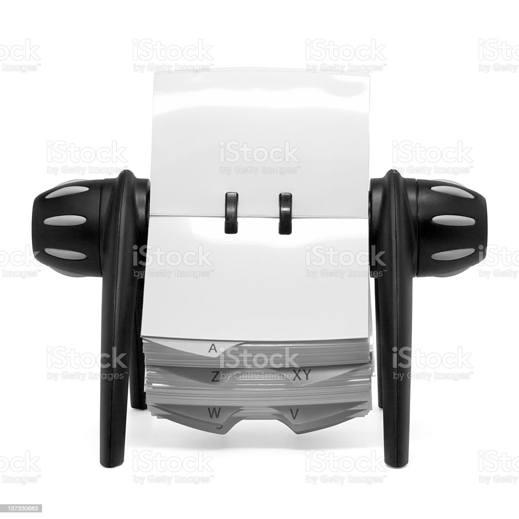 Rolodex (clipping path) stock photo