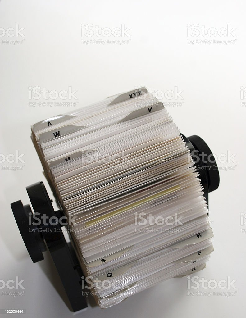 Rolodex Vertical From Above royalty-free stock photo