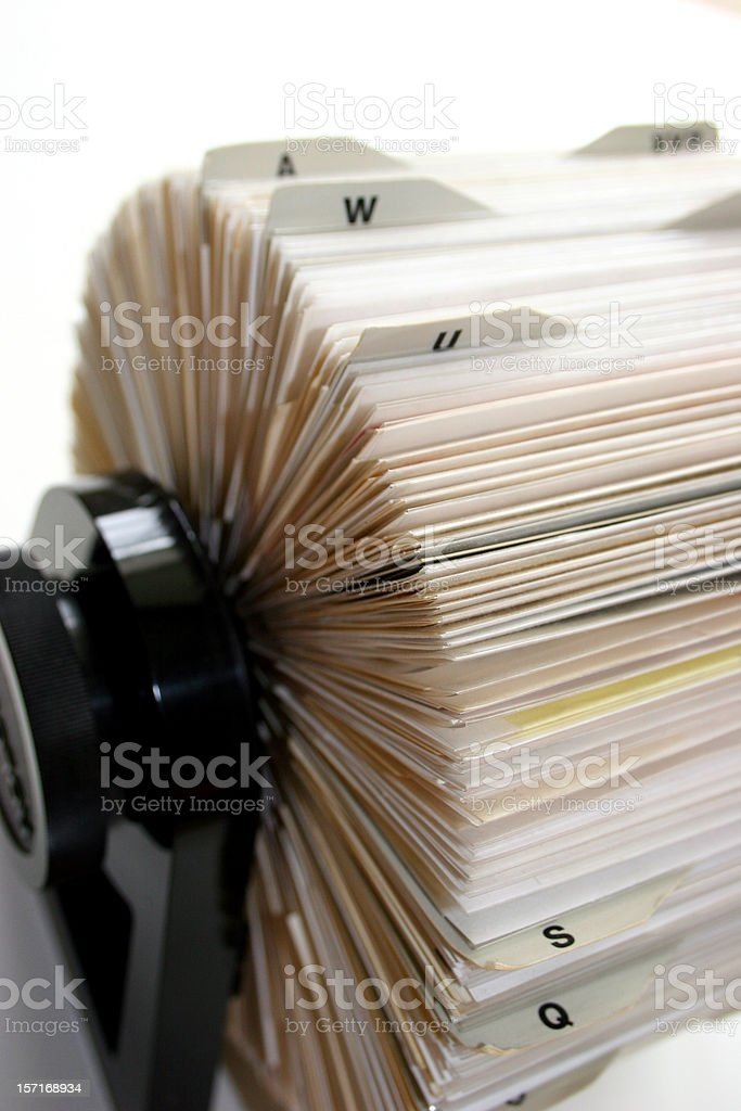 Rolodex Vertical royalty-free stock photo
