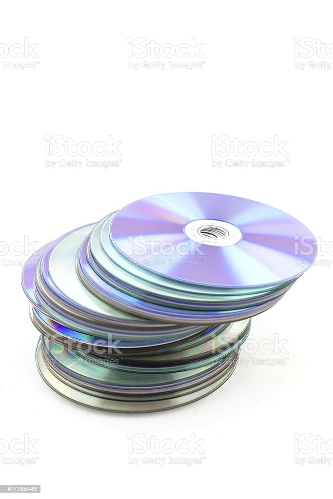 CD rom isolated on white background stock photo
