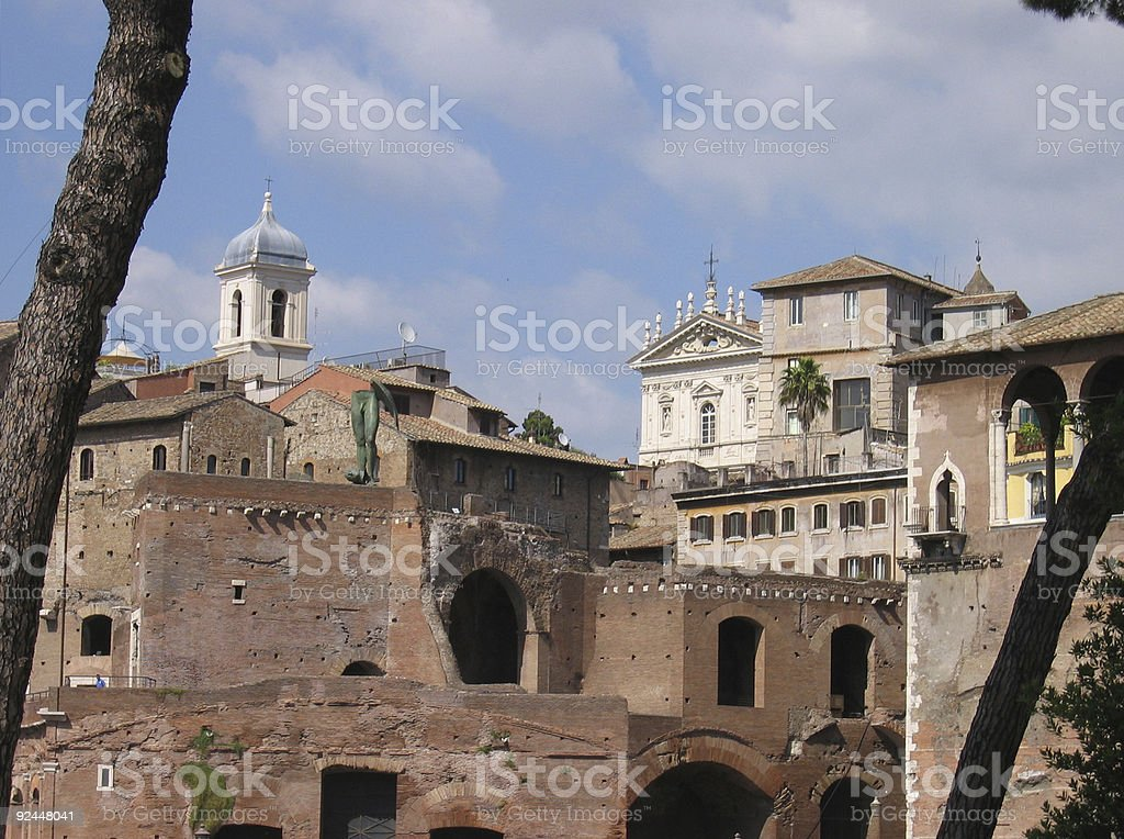 Roma Buildings royalty-free stock photo