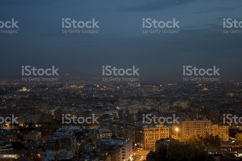 roma by night (italy) royalty-free stock photo