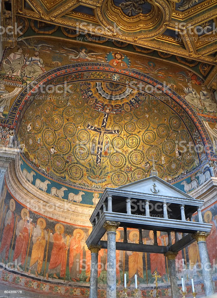 Roma - Church of San Clemente stock photo