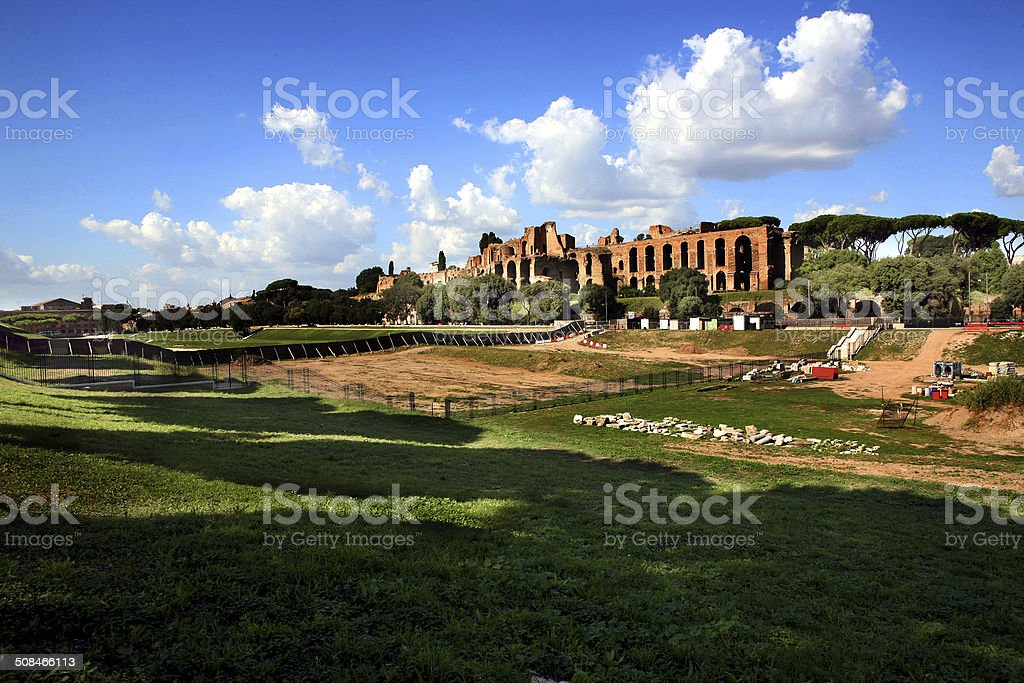 roma circo massimo stock photo
