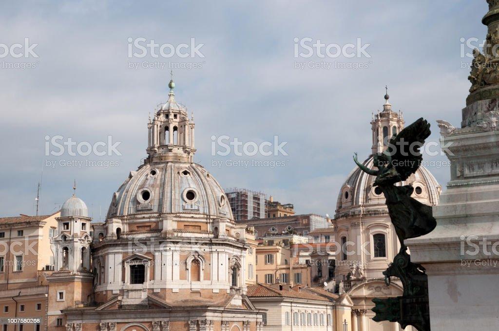 Roma Desde La Terraza De Piazza Venezia Stock Photo