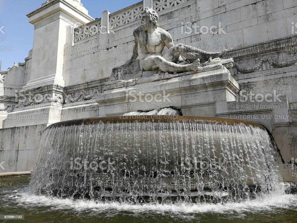 Roma - Fontana del Tirreno stock photo