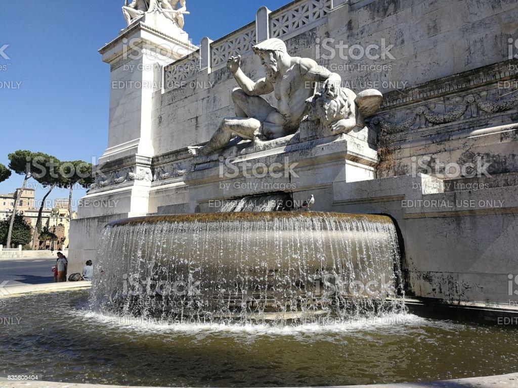 Roma - Fontana dell'Adriatico al Vittoriano stock photo